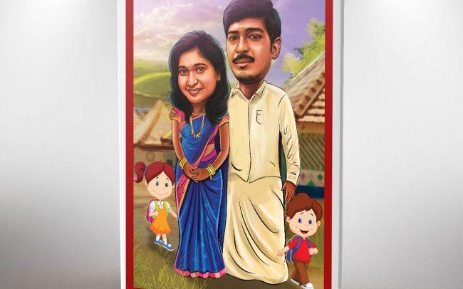 Chennai caricature invitations | Caricature invitation card | Wedding cards in Anna Nagar | Designer wedding invitations