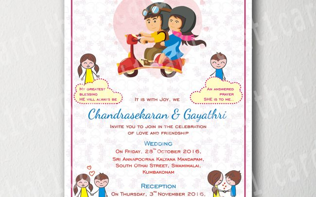 wedding invitations cartoons