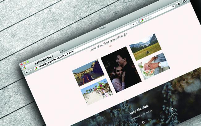 personalized wedding websites